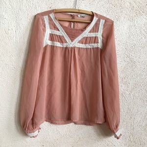 LUCCA COUTURE BLUSH BLOUSE M